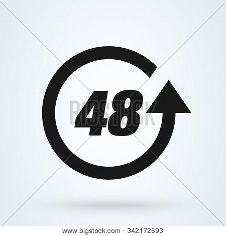 48 Hours. Vector Modern Icon Design Illustration Eps