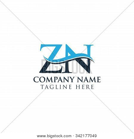 Initial Zn Letter Logo With Creative Modern Business Typography Vector Template. Creative Letter Zn
