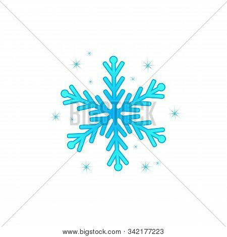 Snow Element. Blue Snow With A White Background. Snow Vector Collection. Snow Cover For The Design A