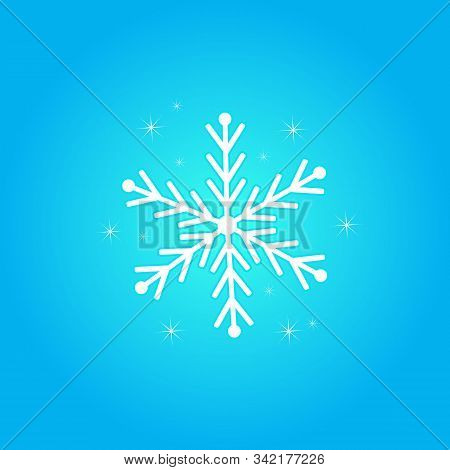 Snow Element. Snow White Color. Blue Background. Snow Vector Collection. Snow Cover For The Design A