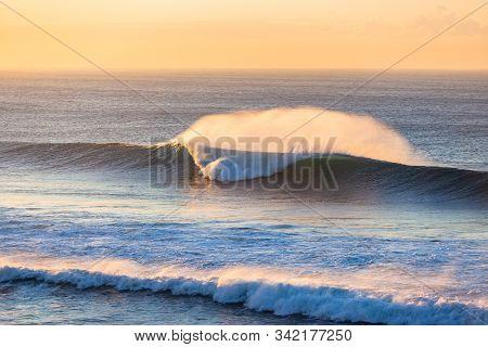 Wave Morning Colors Horizon Landscape