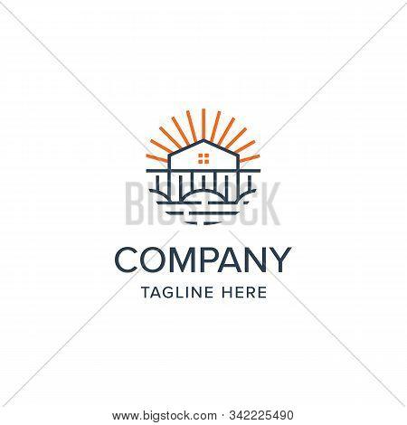 Real Estate Landscape Logo Iconic. Branding For Real Estate, Mortgage, Property, Property, Landscape