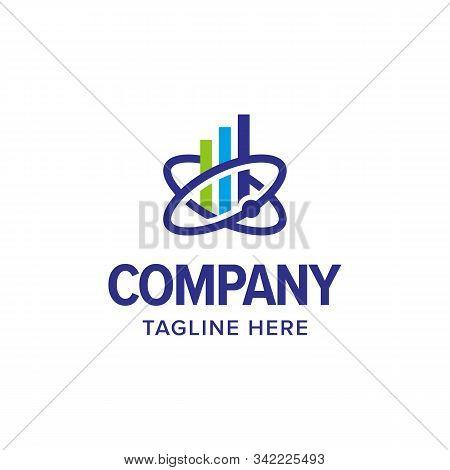 Market Science Real Estate Logo Iconic. Branding For Website, Real Estate, Mortgage, Resident, Marke