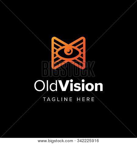 Eye Classic Mark Logo Iconic. Ancient Classic Vintage Ethnic Greek Egyptian Symbol. Branding For Ast