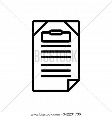 Black Line Icon For Title Headline Heading Caption Letterhead Sobriquet