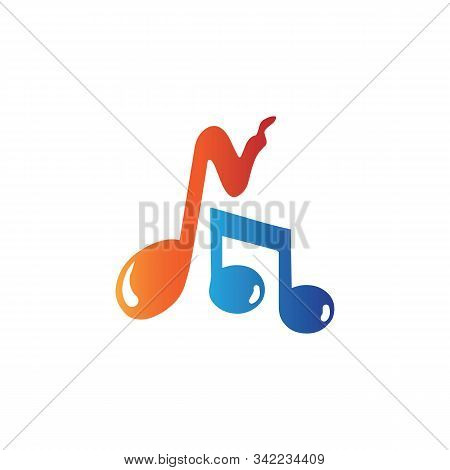 Music Note Symbol Logo And Icon Template Design