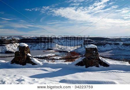 Frozen Dry Falls