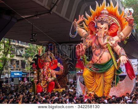 Thousands Of Devotees Bid Adieu To Lord Ganesha In Mumbai During Ganesh Visarjan Which Marks The End