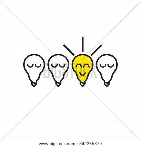 Eureka Concept, Insight Icon, Bulb Lamp Lighting, Creative Sign, Vector Illustration