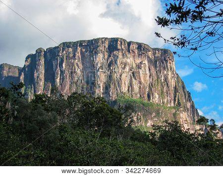 Impressive Tepuy, Table-top Mountain, In Canaima National Park, Venezuela