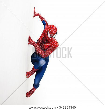 Seint-petersburg, Russia - June 29, 2016: Spider-man, A Cosplay Comic Character.