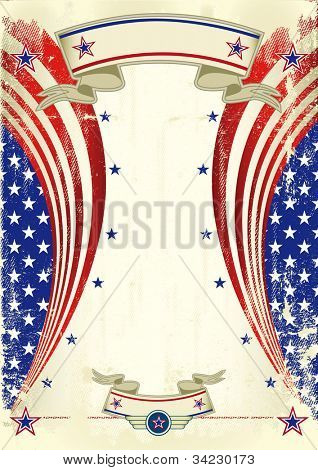 American festive poster. A vintage US background for your advertising