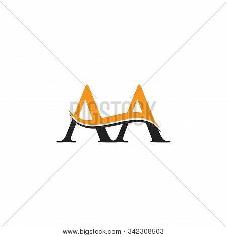 Aa Letter Logo Design Vector With Blue And Grey Colors. Aa Logo Design.