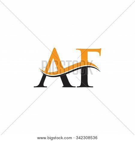 Af Letter Logo Design Vector With Blue And Grey Colors. Af Logo Design.