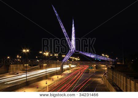Oklahoma City SkyDance Bridge TimeLapse