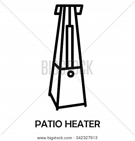 Outdoor Electric Gas Patio Heater. Isometric Best Patio Heaters For Your Garden, Bars, And Restauran
