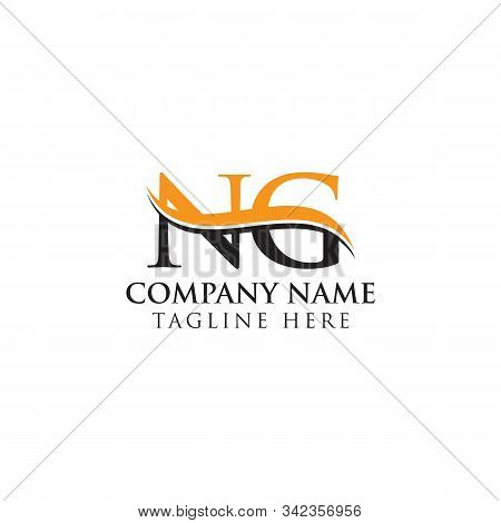 Swoosh Letter Ng Logo Design Vector Template. Ng Letter Logo Design.