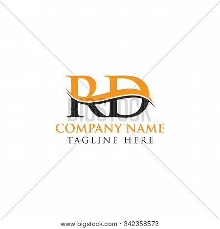 Swoosh Letter Rd Logo Design Vector Template. Rd Letter Logo Design.