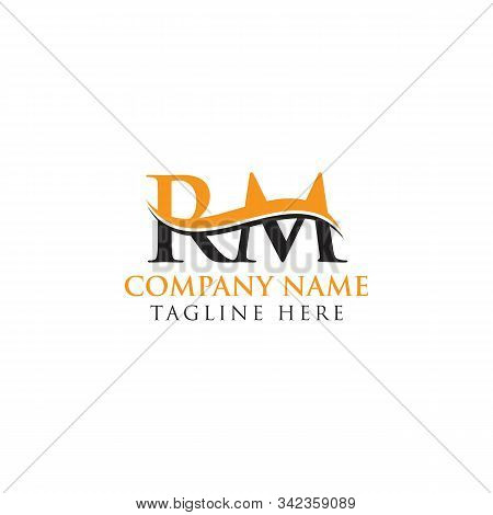 swoosh letter rm logo vector photo free trial bigstock swoosh letter rm logo vector photo