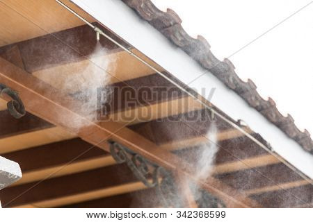 Mist Cooling System On Commecial Building To Manage Ambient Temperature