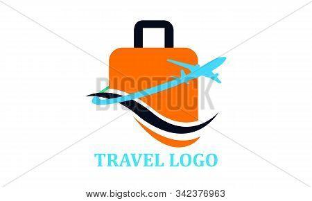 Travel Agency Creative Symbol Concept Vectorimage Logo
