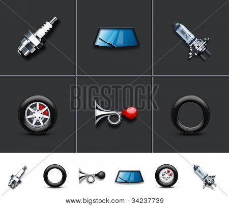 Car parts icons 1
