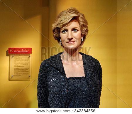 Bangkok, Thailand - November 28 2019: A Wax Statue Of Princess Diana At Wax Museum Of Madame Tussaud