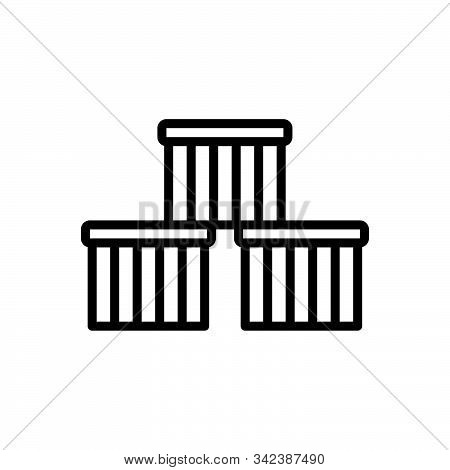Black Line Icon For Goods Cargo Wares Stock Commodities