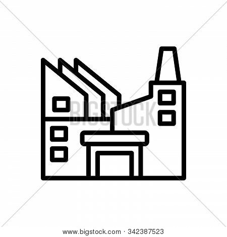 Black Line Icon For Industry  Factory  Manufacturing Hydropower  Worker