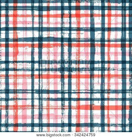 Casual Stripes Interior Wallpaper Seamless Pattern. Simple Backdrop Grafitti. Interior Tablecloth Or