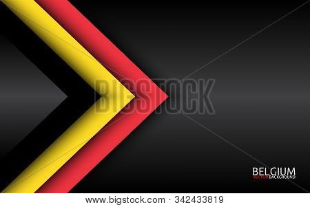 Modern Vector Overlayed Arrows With Belgian Colors And Grey Free Space For Your Text, Overlayed Shee