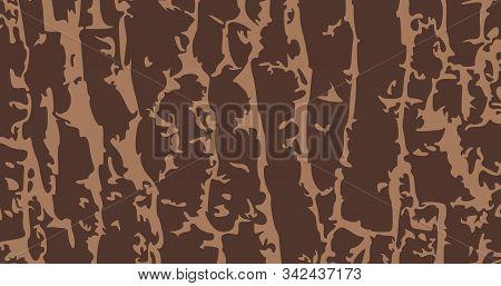 Tree Bark Structure, Grunge Wood Texture. Vector Illustration.