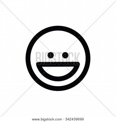 Laughing Emoji Vector Icon On White Background. Flat Vector Laughing Emoji Icon Symbol Sign From Mod