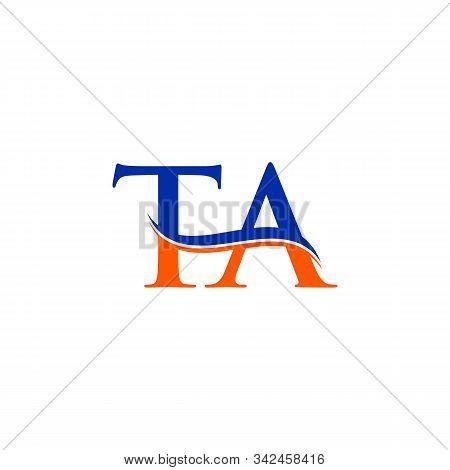 Swoosh Letter Ta Logo Design Vector Template. Ta Letter Logo Design