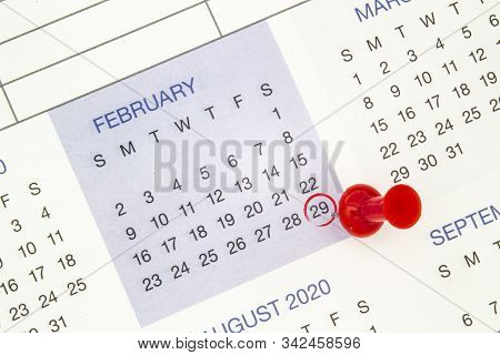 A Calendar On February 29 On A Leap Year, Leap Day