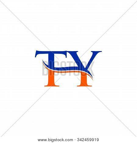 Swoosh Letter Ty Logo Design Vector Template. Ty Letter Logo Design