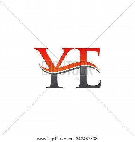 Initial Ye Letter Linked Logo Vector Template. Creative Letter Ye Logo Vector.