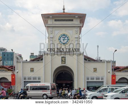 Ho Chi Minh City, Vietnam - January 30, 2016: Ben Thanh Market Is One Of The Must-sees In Saigon
