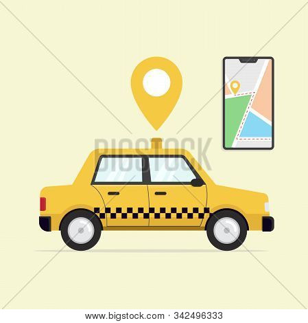 Online Taxi Service Flat, Online Taxi Service Design, Online Taxi Service Vector, Online Taxi Servic