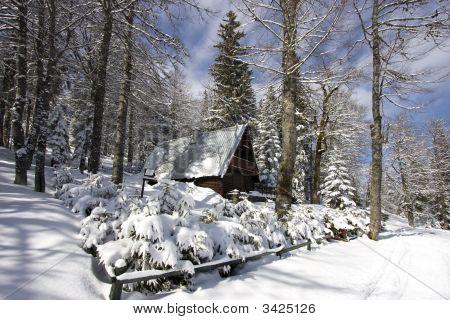 Snowy Winter Landscape On Jahorina Mountain Near Sarajevoa
