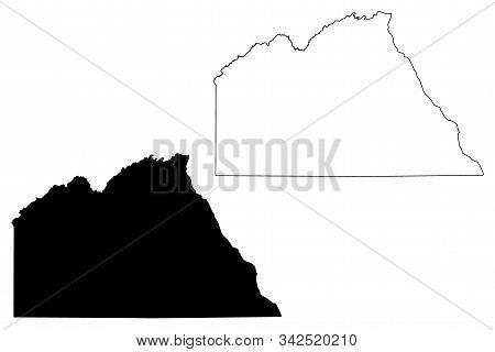 Chobe District (districts Of Botswana, Republic Of Botswana) Map Vector Illustration, Scribble Sketc