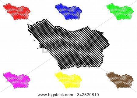 Colonia Department (departments Of Uruguay, Oriental Republic Of Uruguay) Map Vector Illustration, S