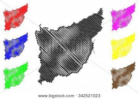 Florida Department (departments Of Uruguay, Oriental Republic Of Uruguay) Map Vector Illustration, S