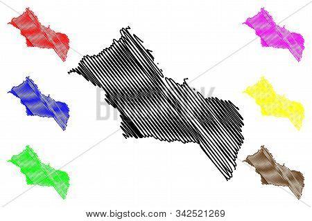 Rivera Department (departments Of Uruguay, Oriental Republic Of Uruguay) Map Vector Illustration, Sc