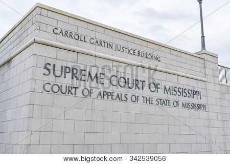 Jackson, Ms - October 7, 2019: Exterior Of The Mississippi State Supreme Court Building In Jackson