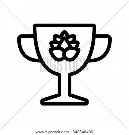 Cup For Beer Icon Vector. A Thin Line Sign. Isolated Contour Symbol Illustration