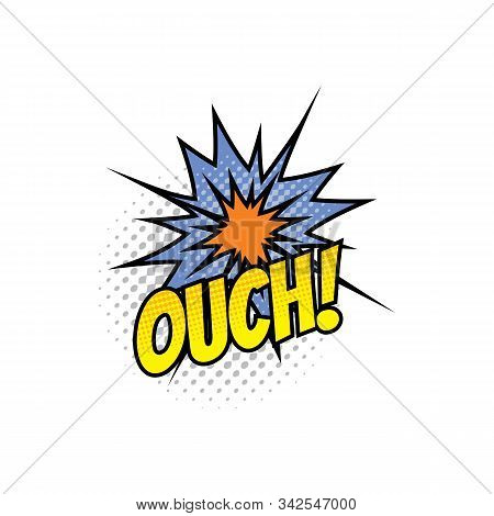 Comic Sound Blast, Pop Bubble Chat Cartoon Icon. Vector Ouch Sound Blast, Explosion Boom Cloud And S