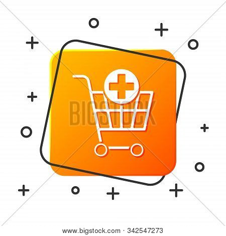 White Add To Shopping Cart Icon Isolated On White Background. Online Buying Concept. Delivery Servic