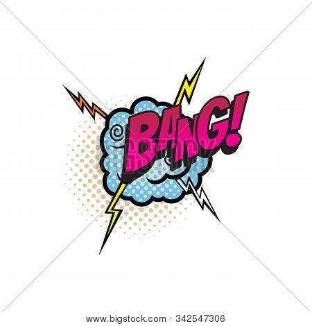 Sound Blast, Bang Bubble Comic Book Cartoon Icon. Vector Bang Sound Cloud, Explosion Boom Bang, Supe