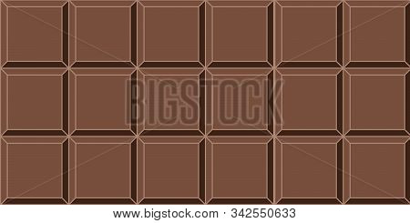 Seamless Background Dark Chocolate Tile Vector Seamless Delicious Mouth Watering Dark Chocolate Bar